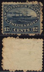 New Brunswick Canada - 1860 - Scott #10 - used