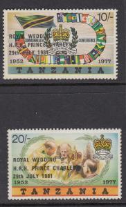 Tanzania 179-80 mnh