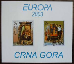 MONTENEGRO - BLOCK 2003 - MNH - PRIVATE ISSUE! crna gora yugoslavia J12