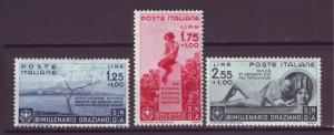J21536 Jlstamps 1936 italy part of set hv,s  mh #364-6 designs, 2 scans $100.00