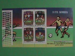 KOREA STAMP 1982   FOOT BALL WORLD CHAMPIONSHIP; CTO- NOT HING  S/S SHEET