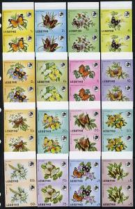 Lesotho 1984 Butterflies complete set of 16 values (incl ...