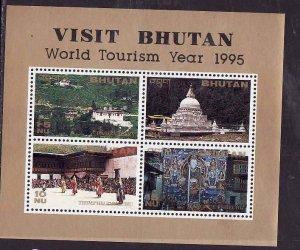 Bhutan-Sc#1105-unused NH sheet-World Tourism Year-1995-