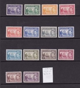 St Helena 1938 Sc 118-127 set of 14 MH (except 126,127 MNH)