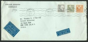 SWEDEN 1953 commercial airmail cover to USA................................60669