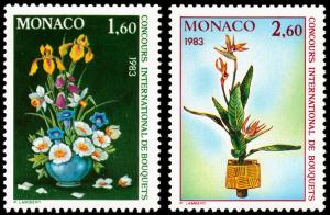 Monaco Scott 1351-1352 (1982) Mint NH VF B