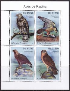 Sao Tome and Principe, Fauna, Birds of Prey MNH / 2011