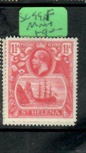 ST HELENA  (PP1305B)  KGV  1 1/2D  SHIP  SG 99F       MOG