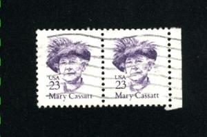USA #2181  4 used  pair 1986-94 PD .12