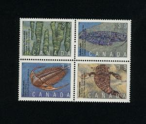 Canada #1282a Mint VF NH block  PD 3.00