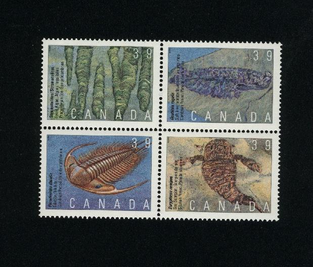 Canada #1282a Mint VF NH block  PD