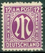 Germany - Allied Occupation - AMG - 3N8 MNH