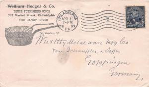 U. S., Scott #281 Used on 1899 Ad Cover from Philadelphia to Goppingen, Germany