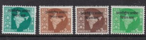 INDIA( Forces in  VIETNAM) ^^^^^^sc# 11-14  mint hinged  $$@ lar 1022india
