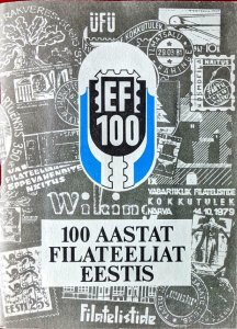 100 AASTAT FILATEELIAT EESTIS Estonia - Published 1988, Illustrated, 95 pages