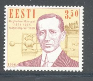 Estonia Sc 307 1996 Marconi stamp mint NH