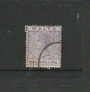 Malta 1885/90 QV 1/- Used SG 28
