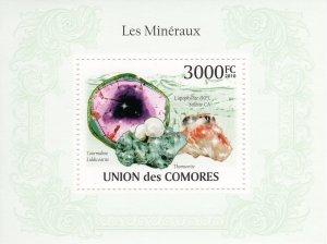 COMORO ISLANDS 2010 YT#Bl.243  MINERALS Souvenir Sheet (1) MNH