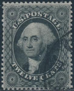 #36 VF USED FACE-FREE CANCEL WITH PF CERT GRADED 80 BS7839