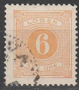 Sweden #J15 F-VF Used CV $4.50 (S3540)