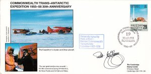 British Antarctic Territory FDC Sc 147 Signed Peter Jeffries Cachet Auster, O...