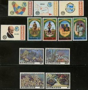 BARBADOS Sc#524-537, 537a 1980 Three Complete Sets & 3 S/S OG Mint Hinged