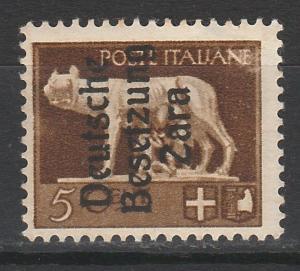 ZARA GERMAN OCCUPATION 1943 ITALY 5C MNH **