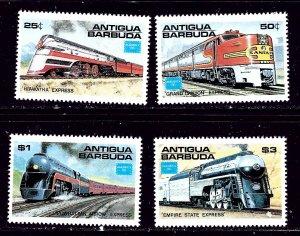 Antigua 934-37 MNH 1986 Trains    #2
