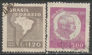 BRAZIL C62-63 VFU MAP M745-1
