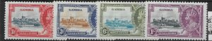 GAMBIA SG143/6 1935 SILVER JUBILEE SET MTD MINT