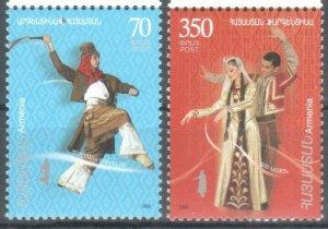 ARMENIA JOINT ARGENTINA SET OF 2 2008 MNH DANCE R2021168