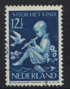 Netherlands 1938 used  child welfare 12 1/2 ct   #