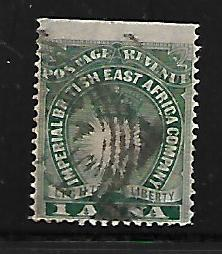 BRITISH EAST AFRICA  15 USED, STRAIGHT EDGE, SUN AND CROWN