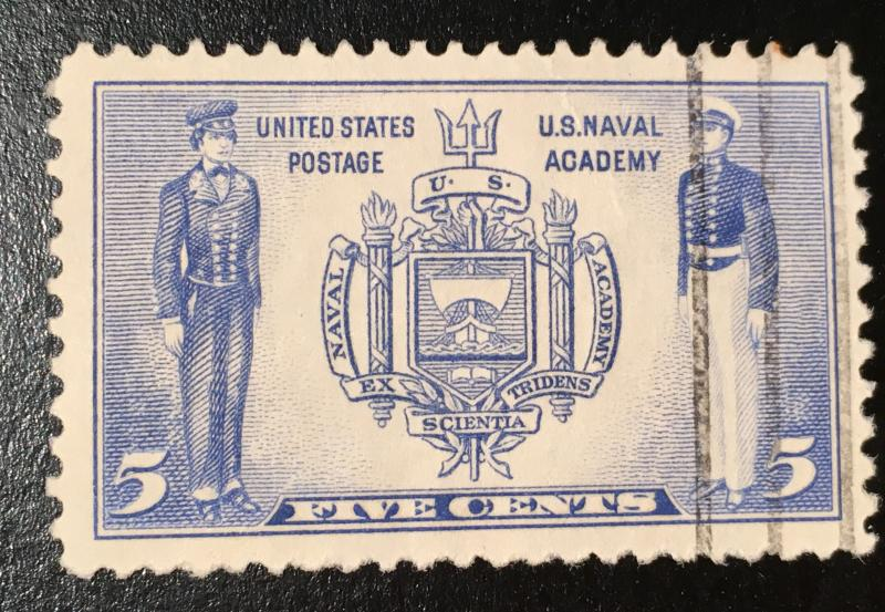 789, West Point, Army Navy Series, Circulated Single, Vic's Stamp Stash