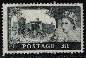 Great Britain #374 Edinburgh Castle & QE2; Used (6.00)