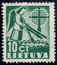 Lithuania # 318 no gum ~ 10¢ Angel