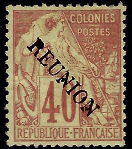 Reunion Sc #26 Unused VF SCV$75...French Colonies are Hot!