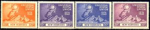 UPU, Universal Postal Union 75th Anniv, New Hebrides SC#62-65 MNH set