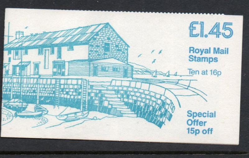 Great Britain Sc BK584 1983 10 x16p Machin stamp booklet mint NH