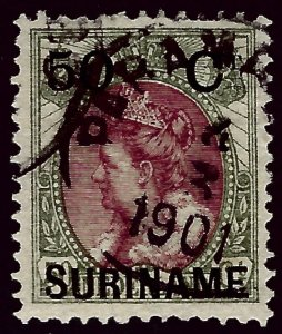 Suriname #36 Used F-VF SC$9.00....Grab a Bargain!