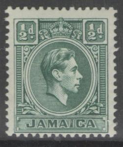 JAMAICA SG121 1938 ½d BLUE-GREEN MTD MINT