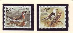 Iceland Sc 671-2 1989 birds stamp set used
