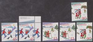 Canada - 1996 Christmas Stamps from Sheets & Booklets mint