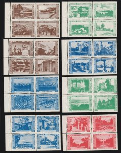 US 1935 California Pacific Expo Cinderella Stamps 11 Blks 4 All Different