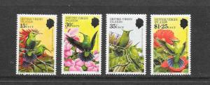 BIRDS - BRITISH VIRGIN ISLANDS #422-5 HUMMINGBIRDS  MNH