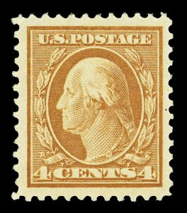 Scott 503 1917 4c Brown Washington Perforated 11 Issue Mint VF OG LH Cat $8.50
