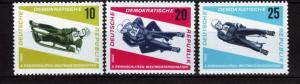 J19276 Jlstamps 1966 germany DDR set mnh #808-10 sports