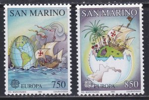San Marino # 1264-1265, Discovery of America 500th Anniversary, NH, 1/2 Cat.