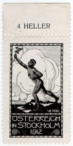 (I.B) Austria Cinderella : Olympic Fund 4H (Stockholm 1912)