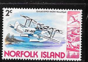Norfolk Islands #257 Military Aircraft (MNH) CV$0.25